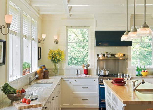 White Kitchen Decorating Ideas Built