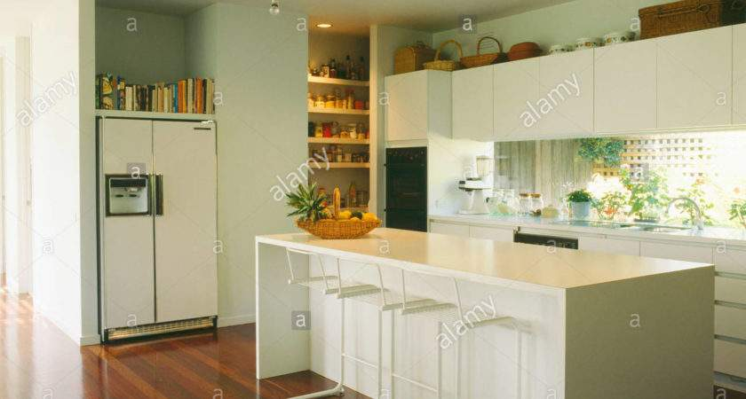 White Kitchen Island Breakfast Bar Hostyhi