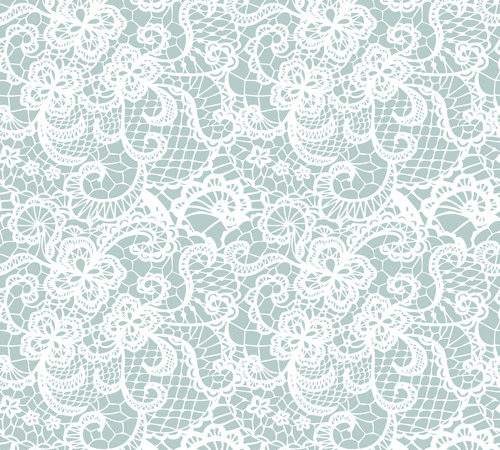 White Lace Seamless Pattern Vector