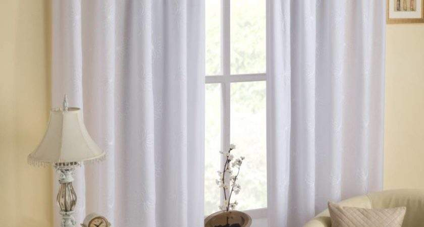 White Lined Voile Eyelet Curtains Savae