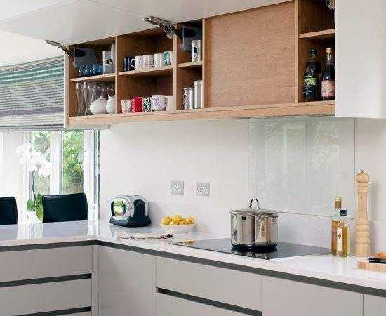 White Modern Kitchen Wall Cupboard Decorating