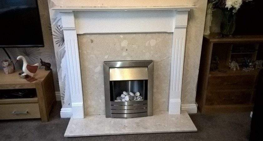 White Painted Pine Fireplace Surround Electric Fire
