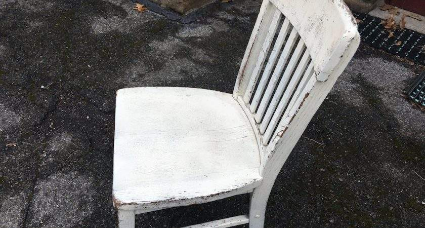 White Painted Shabby Chic Wooden Spindle Chair