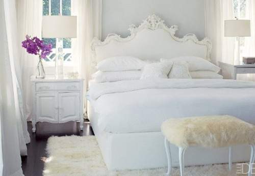 White Shabby Chic Bedrooms Heart