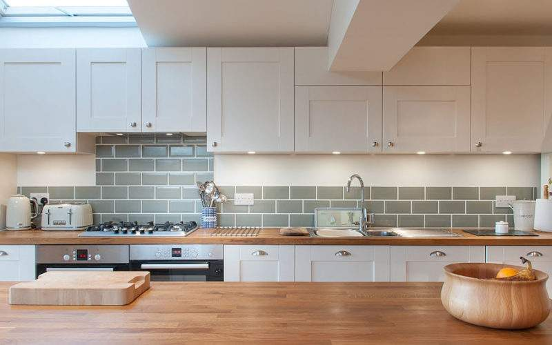 White Shaker Kitchen Wooden Worktops Burwash East