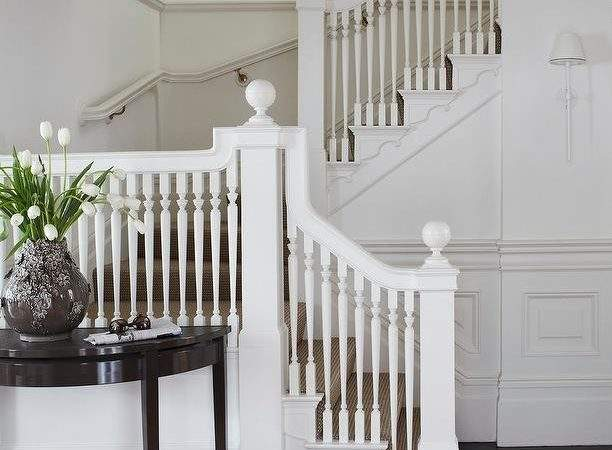 White Staircase Spindles Design Ideas