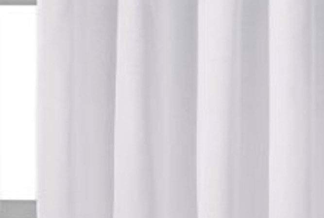 White Voile Eyelet Ring Top Lined Curtain Drapes Ebay