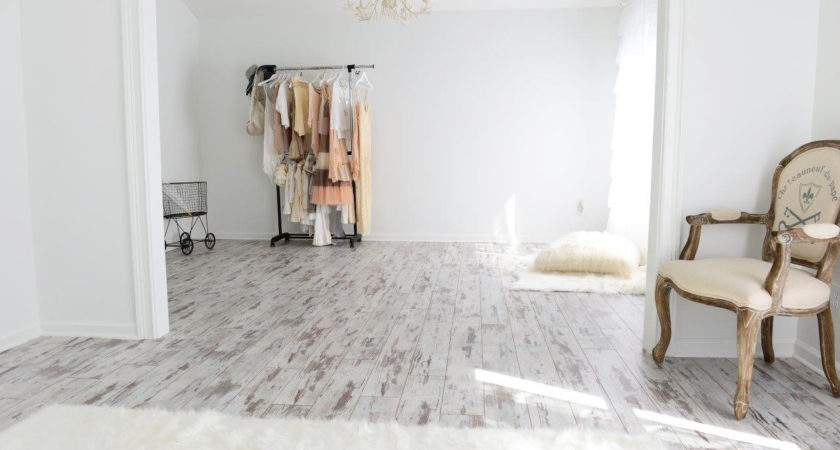 White Washed Wood Floor Meets Home Industrial Style