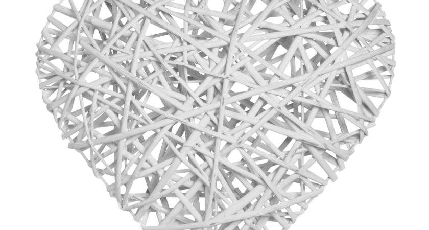 White Wicker Ornament Large Departments Diy