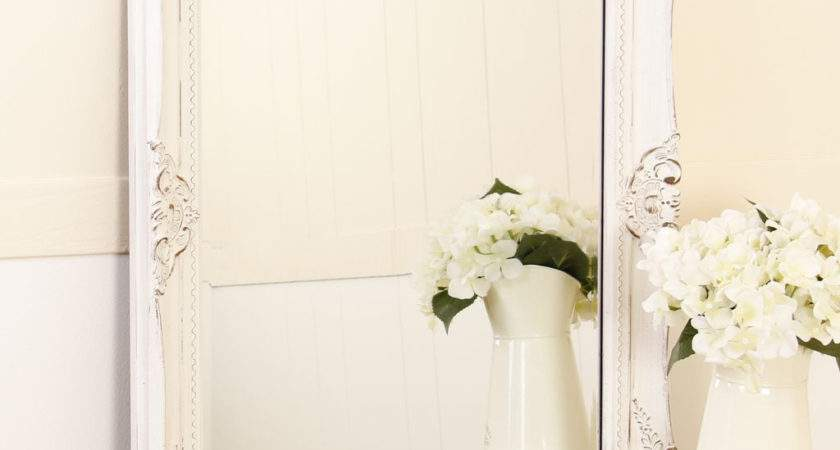 White Wooden Shabby Chic Wall Mirror
