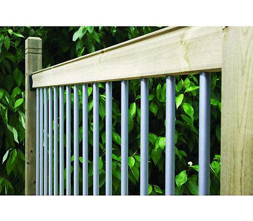 Wickes Traditional Deck Railing Kit Silver