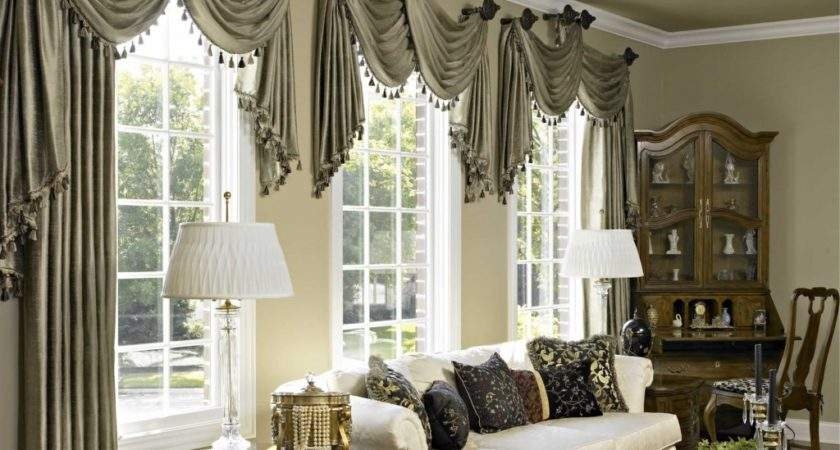 Window Bay Curtain Ideas Blinds