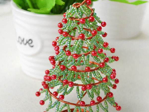 Wire Bead Christmas Tree Fun Crafts