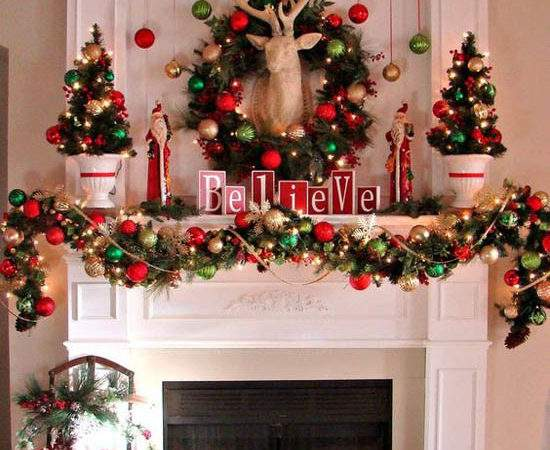 Wonderful Christmas Mantel Decorations Ideas All