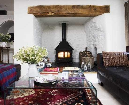 Wood Burning Stove Living Room Housetohome
