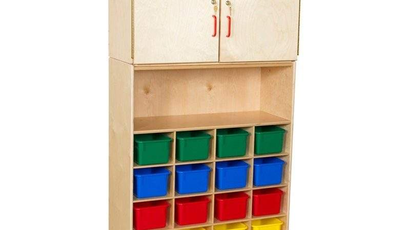 Wood Designs Tray Vertical Storage Cabinet Trays