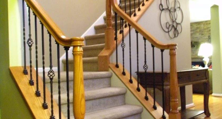 Wood Stairs Rails Iron Balusters December