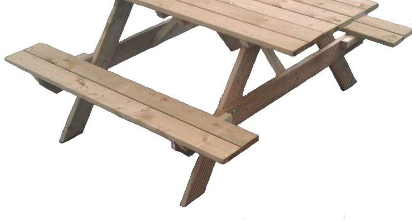 Wooden Garden Picnic Table Homegenies