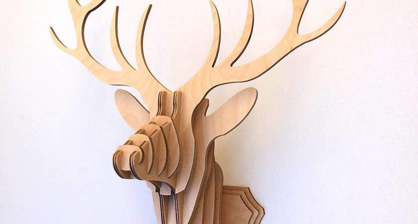 Wooden Stag Head Wall Trophy Clive Roddy