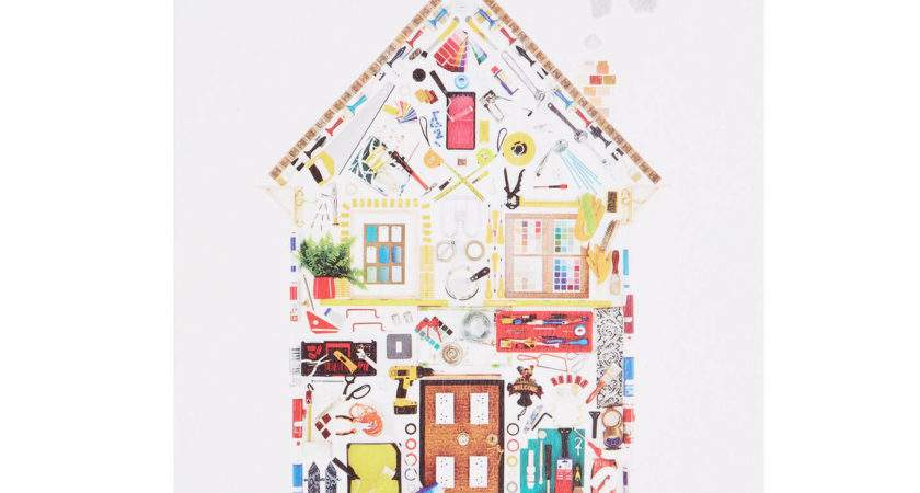 Woodmansterne House Diy Objects New Home Greeting Card