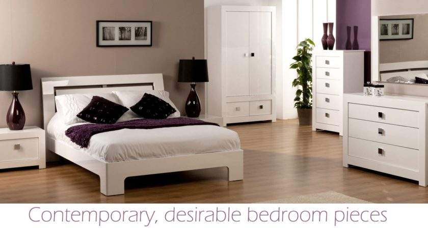 World Furniture Bari High Gloss White Single Bed