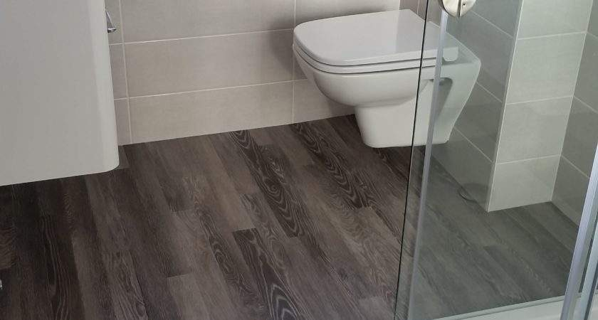Would Like Wood Effect Floor Your Bathroom Red