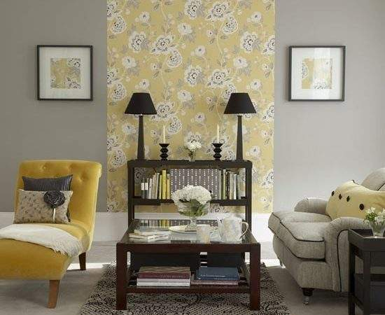 Yellow Floral Living Room Furniture