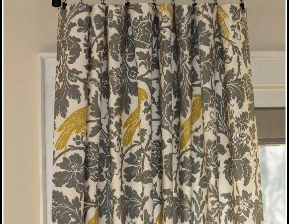 Yellow Grey Curtain Panels Curtains Home Design