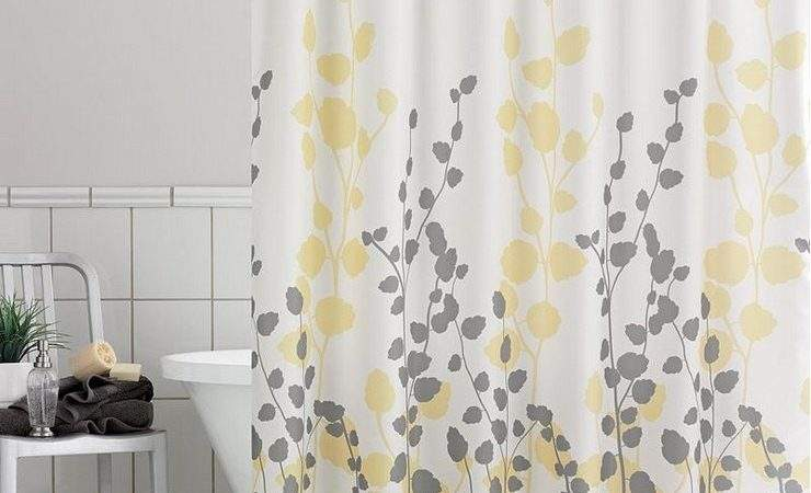Yellow Shower Curtains Grey