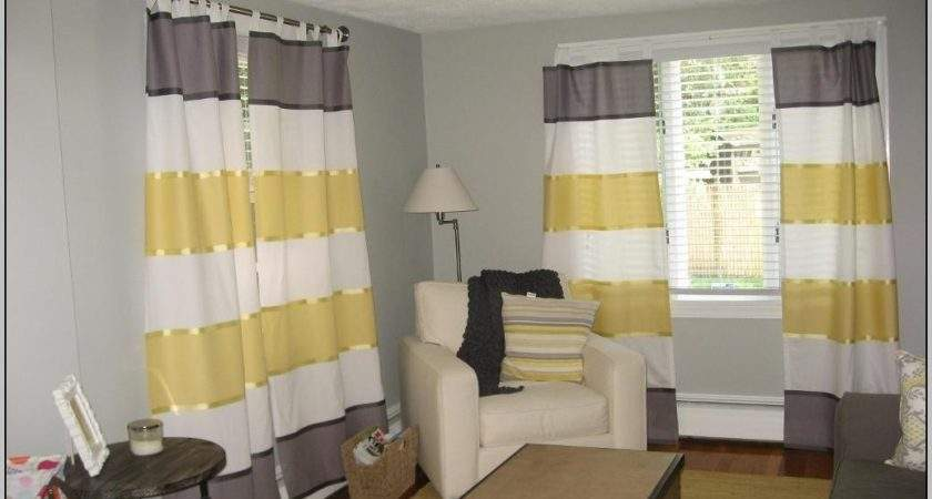 Yellow White Striped Curtain Material